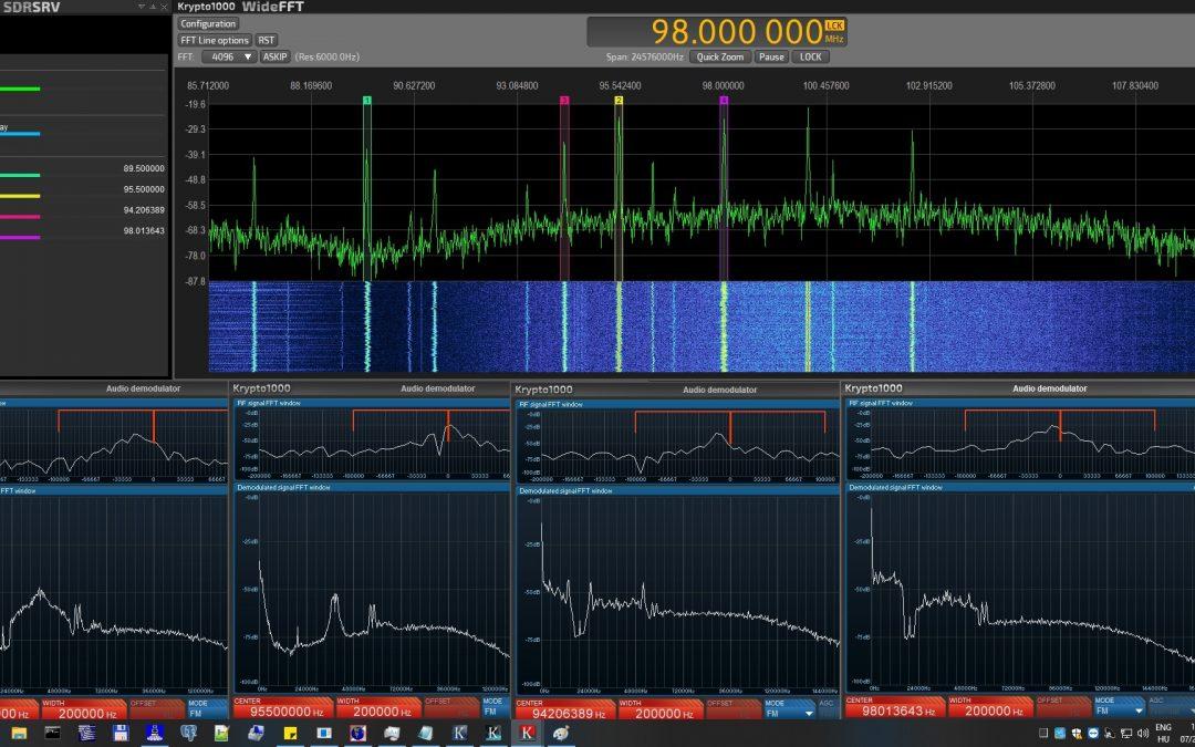 Wideband spectrum streaming